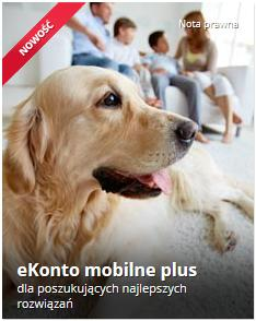 grafika promująca ekonto mobilne plus, screen: mbank.pl