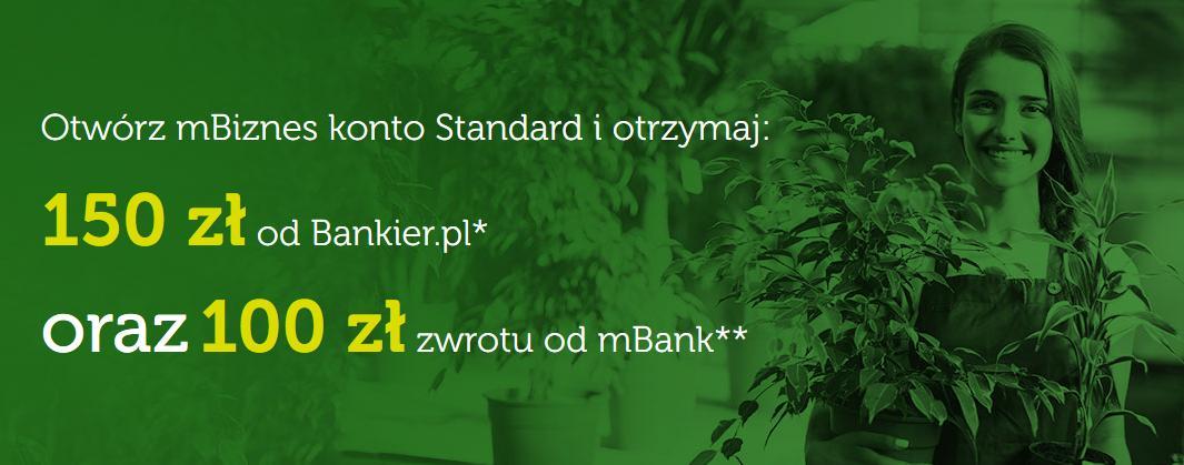 Nawet 250 zł w dwóch promocjach za założenie eKonta Biznes w mBanku i 2 lata darmowego konta
