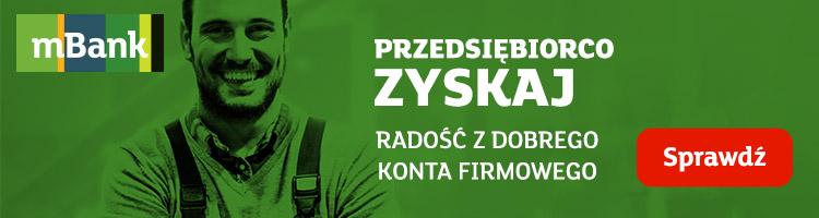 100 zł w promocji mBiznes Konta Standard w mBanku i 2 lata preferencyjnych warunków za konto