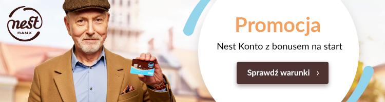 100 zł w promocji zupełnie darmowego konta bankowego w Nest Banku – bardzo mała pula nagród