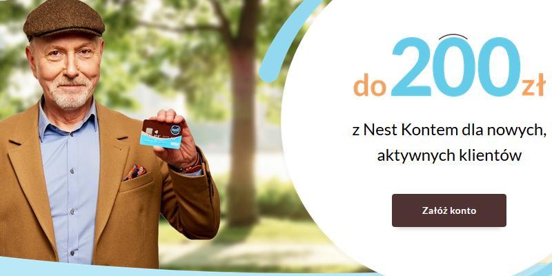 HIT! 200 zł od Nest Banku w promocji zupełnie darmowego konta bankowego – pula nagród 650 szt