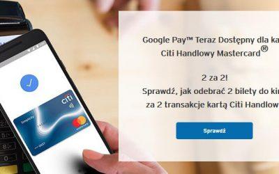 Bilety do Multikina na seans 2D za płatności Google Pay w City Banku – proste warunki promocji