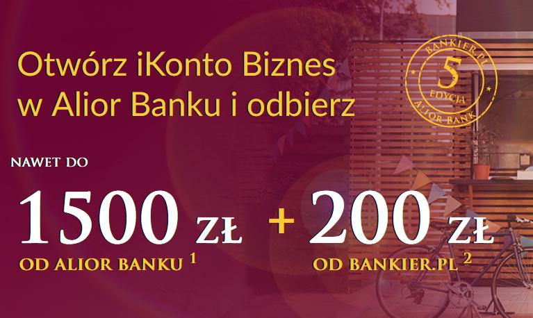 200 zł za spełnienie prostego warunki w promocji iKonta Biznes w Alior Banku + nawet 1500 zł w kolejnej promocji