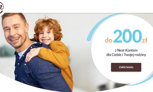 Kolejny raz nawet 200 zł w super promocji Nest Konta w Nest Banku – pula nagród ograniczona