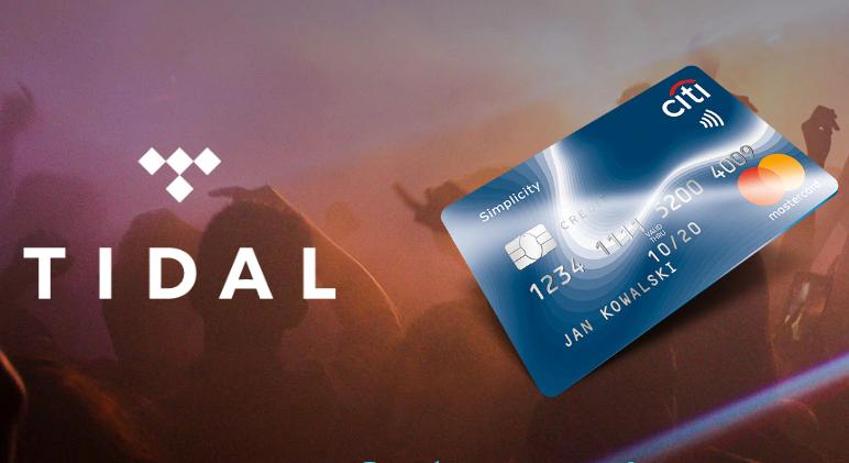 HIT! Dostęp do serwisu TIDAL o wartości 477,6 zł + dostęp do przedsprzedaży LIVE NATION – promocja karty kredytowej w Citi
