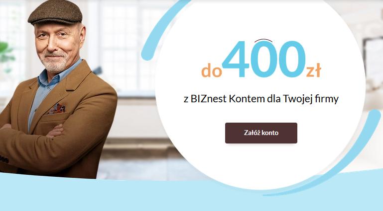 Nawet 400 zł w promocjach konta firmowego w Nest Banku – bardzo mała pula nagród