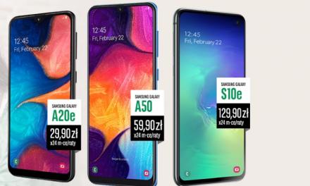 Samsung Galaxy A20e lub Galaxy A50 lub Galaxy S10e w promocji Konta Otwartego na Ciebie w BNP Paribas