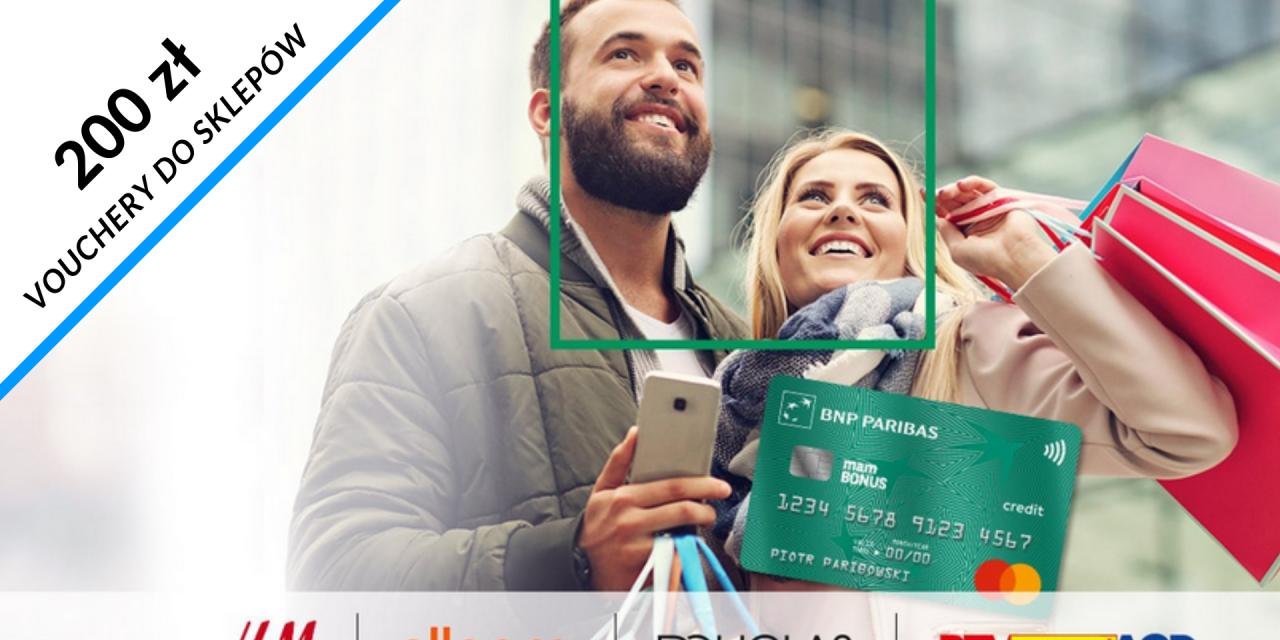 Vouchery o wartości 200 zł do Allegro, RTV EURO AGD, H&M lub Douglas w promocji karty kredytowej w BNP Paribas