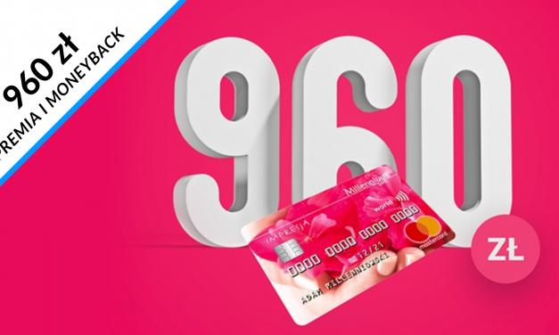 200 zł w promocji karty kredytowej w Millennium Banku + nawet 760 zł moneybacku za płatności kartą – pula nagród