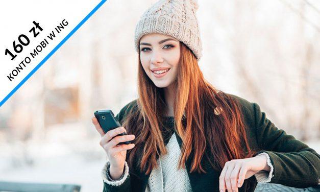 Ponownie 160 zł w promocji studenckiego Konta Mobi w ING Banku Śląskim – sprawdź