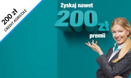 Trzecia edycja promocji w Credit Agricole i jedna z trzech premii do wyboru – nawet 200 zł do zdobycia