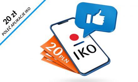 20 zł do wykorzystania na allegro za polecenie aplikacji IKO w PKO Banku Polskim – pula nagród ograniczona