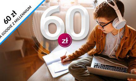 60 zł do wykorzystania na goodie z Kontem 360° Junior – dla obecnych klientów Millennium Banku
