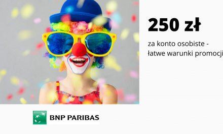 Łatwe 250 zł w promocji Konta Otwartego na Ciebie w BNP Paribas – pula nagród ograniczona
