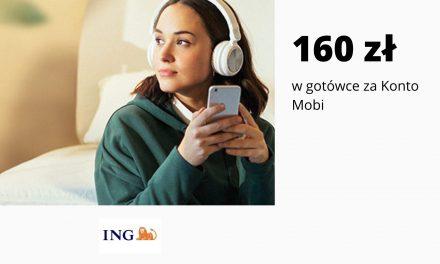 Promocja Konta Mobi w ING Banku Śląskim – ponownie do zdobycia do 160 zł w gotówce