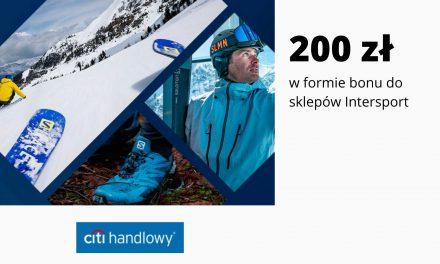 Karta podarunkowa o wartości 200 zł na zakupy produktów marki Salomon w Intersport – promocja CitiKonta