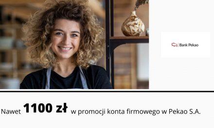 Nawet 1100 zł premii w promocjiKonta Przekorzystnego Biznesw Banku Pekao S.A + preferencyjne warunki za konto i kartę