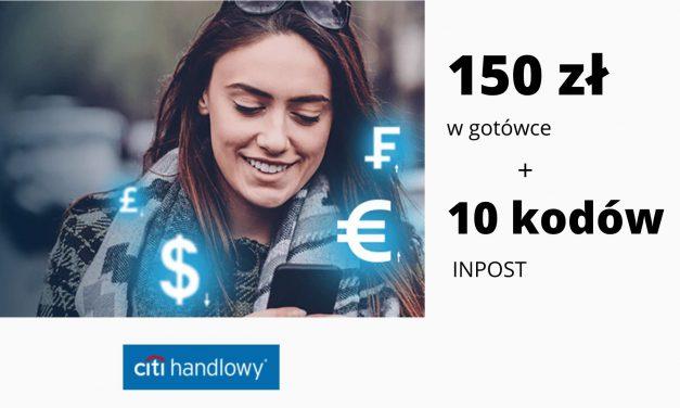 IV edycja promocji CitiKonta w Citi Banku – nawet 150 zł w gotówce + 10 kodów na usługi kurierskie INPOST