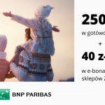250 zł w gotówce i e-bon o wartości 40 zł do sklepów Żabka w promocji Konta Otwartego na Ciebie w Banku BNP