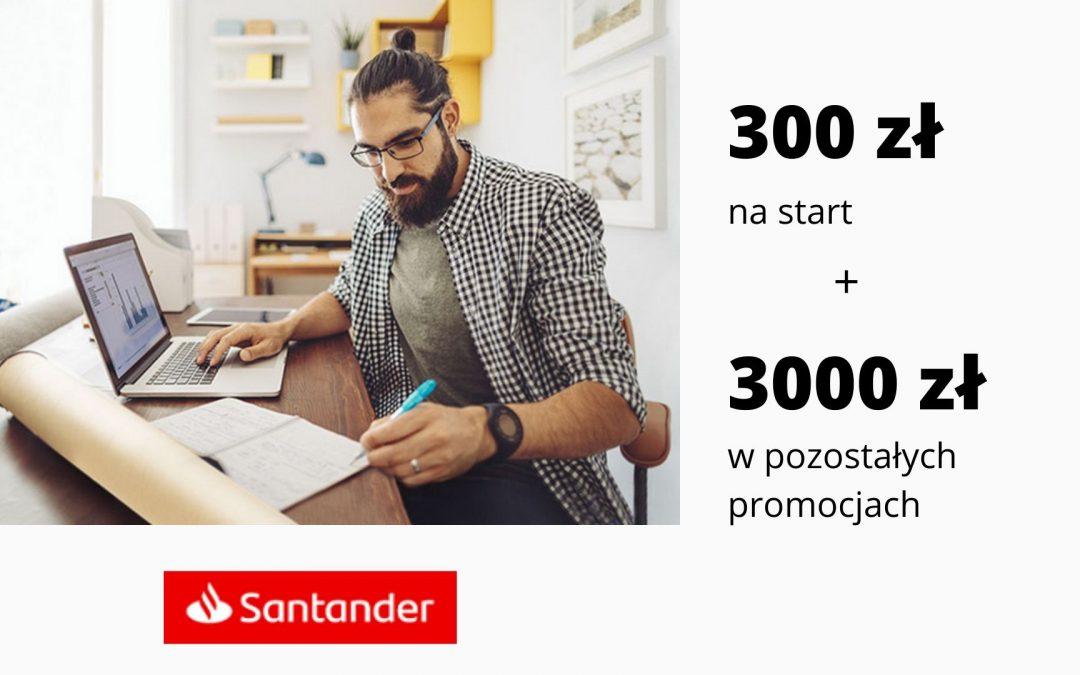 HIT! Nawet 3300 zł w promocjach Konta Firmowego Godnego Polecenia w Santander – super kumulacja