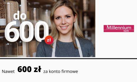 Nawet 600 zł w promocji Konta firmowego Mój Biznes w Millennium Banku – pula nagród ograniczona