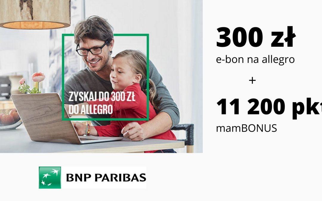 300 zł do wykorzystania na Allegro + 11200 punktów mamBONUS – promocja karty kredytowej w BNP Paribas