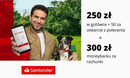 Druga edycja promocji z premią za aktywne bankowanie w Santander Bank Polska – 250 zł + 50 zł za otwarcie z polecenia