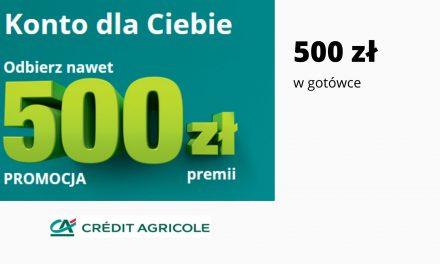 Nawet 500 zł moneybacku w promocji Konta dla Ciebie w Credt Agricole – wystarczy aktywnie korzystać z konta