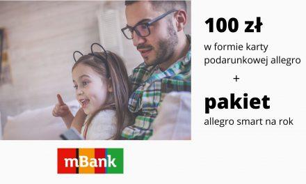 Kolejna edycja promocji mKonta Intensive – karta podarunkowa allegro o wartości 100 zł + pakiet allegro smart na rok