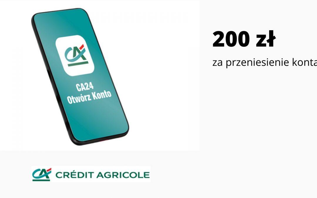Nawet 200 zł za przeniesienie konta innego banku do Credit Agricole i spełnienie prostych warunków promocji