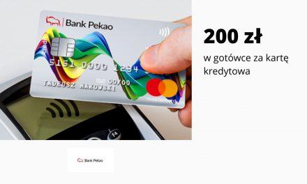 200 zł w promocji karty kredytowej w Banku Pekao SA  – łatwe warunki promocji