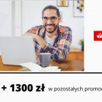 Łatwe 300 zł w promocji Konta Firmowego Godnego Polecenia + nawet 1300 zł w pozostałych promocjach