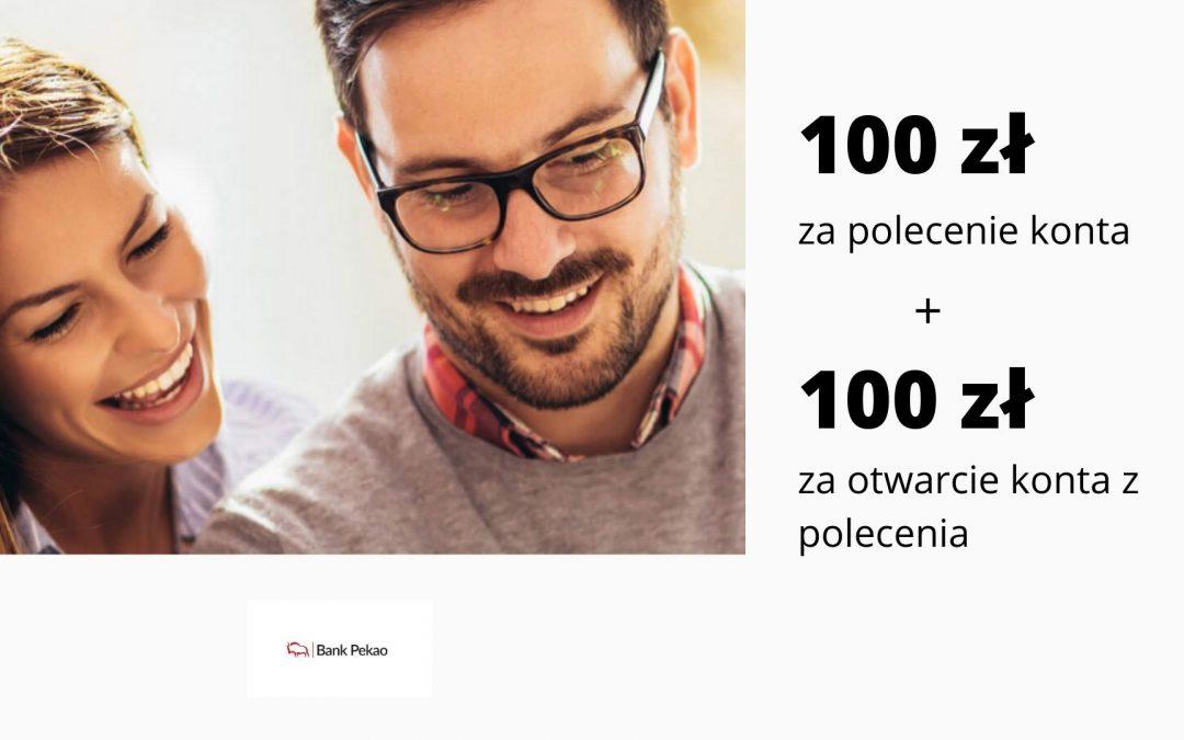 100 zł za polecenie konta i 100 zł za otwarcie konta z polecenia w kolejnej edycji programu poleceń w Pekao S.A.