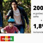 XI edycja promocji eKonta z premią w mBanku – nawet 200 zł w gotówce + 1,8% na koncie Moje Cele + 50 zł za selfie