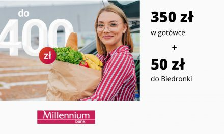 Nawet 400 zł! w promocji Konta 360° i Konta 360° Student w Millennium Banku – łatwe warunki promocji