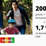 Nawet 300 zł premii w promocji eKonta Osobistego w mBank oraz promocyjne oprocentowanie na koncie oszczędnościowym Moje Cele