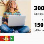 150 zł w promocji od Bankier.pl + 300 zł w promocji od mBanku + 1,7% na rachunku oszczędnościowym Moje Cele